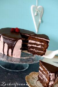 Himbeer-Brownie Torte nach Linda Lomelino