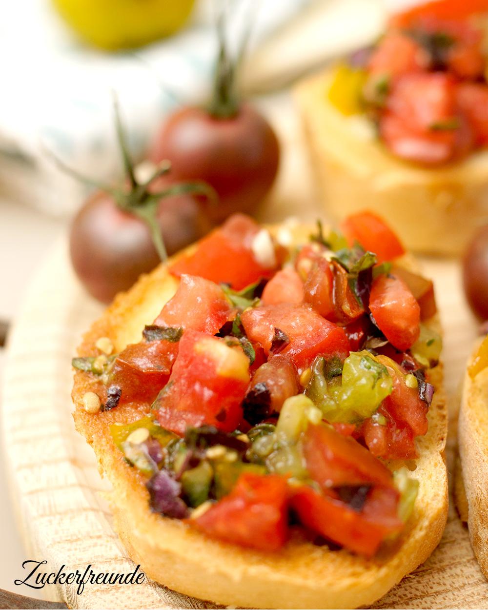 bruschetta mit frischen tomaten lieberbacken