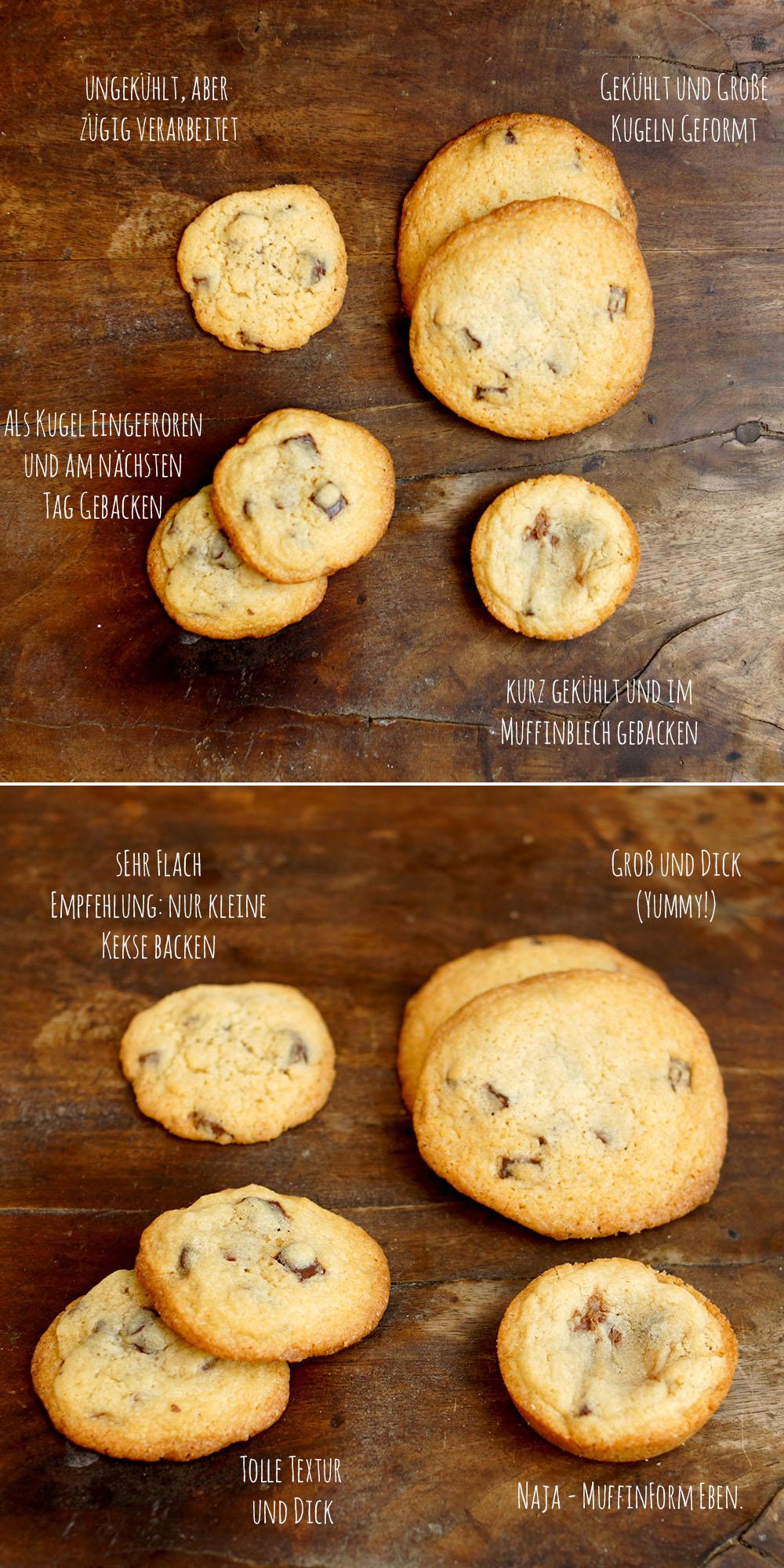 verschiedene Keksformen und Texturen