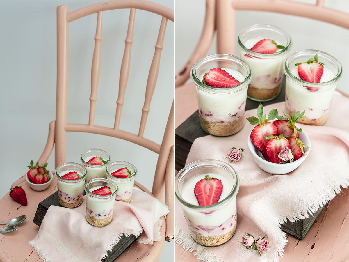 Erdbeer Cheesecake im Glas