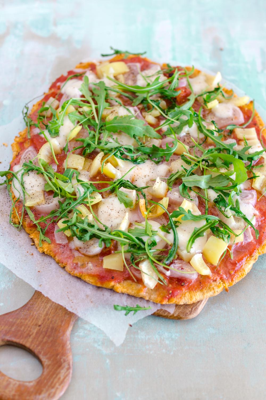 Kokosmehl-Pizzaboden / glutenfrei