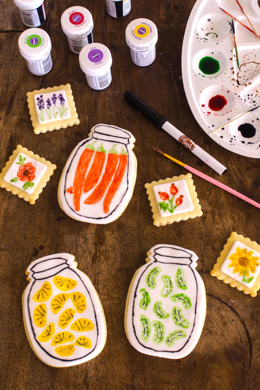 Bemalte Fondant-Kekse mit Wasserfarben Effekt - Schritt für Schritt Anleitung