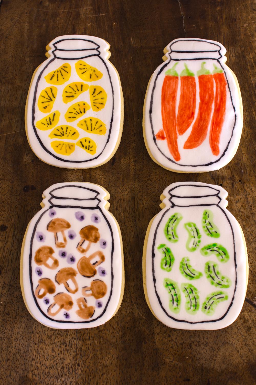 Bemalte Fondant-Kekse / Wasserfarben-Effekt